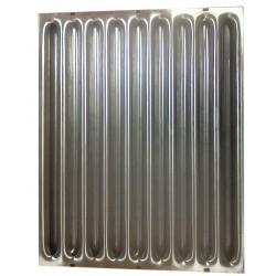 Filtre à graisse à chicanes pour hottes CHR ventilation 500 x 400