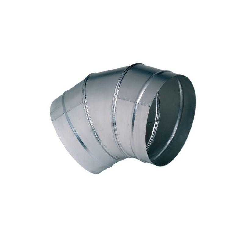 Coude galva à 45° diamètre 315 mm